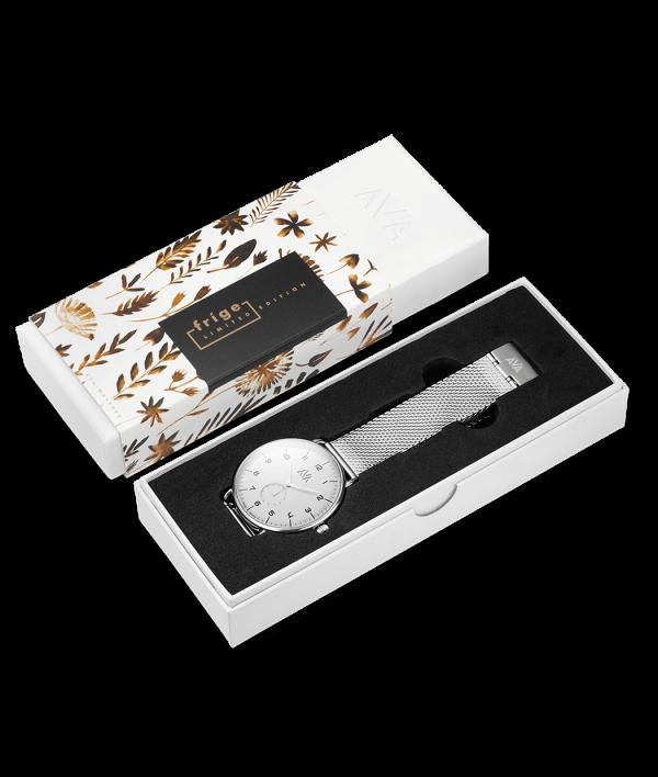 ava frige silver vit box